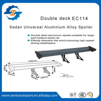 EC-114 Double Deck Sedan-car Spoiler Car Aluminum Alloy Tail Wing Universal Auto Rear Spoiler