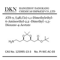 High quality (4R,Cis)-1,1-Dimethylethyl-6-Aminoethyl-2,2 -Dimethyl -1,3-Dioxane-4-AcetateCAS NO.125995-13-3
