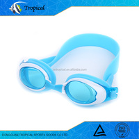 New Design Durable printed funny silicone swimming goggles made in china