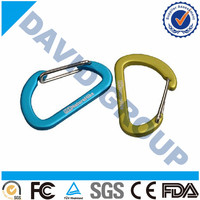 Retractable hinge and split key ring Carabiner clip