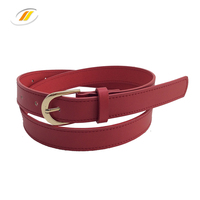 Newest Ladies Red PU Leather Belts
