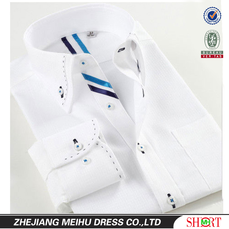 latest slim fit long sleeve new fashion men's button up collar casual <strong>shirt</strong>