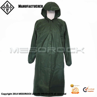 Adult Emergency Reusable Fashion Long Raincoat With Hood Rain Poncho