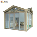 Customized aluminum lowes sunrooms glass sunroom