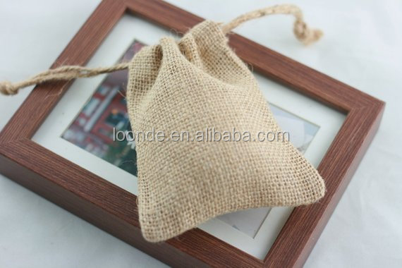 Natural Burlap Candy Bags Wedding Supply bag Hessian Gift Bags