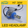 Car accessories h7 car led headlights 30w for auto cars h1 h3 h4 h7