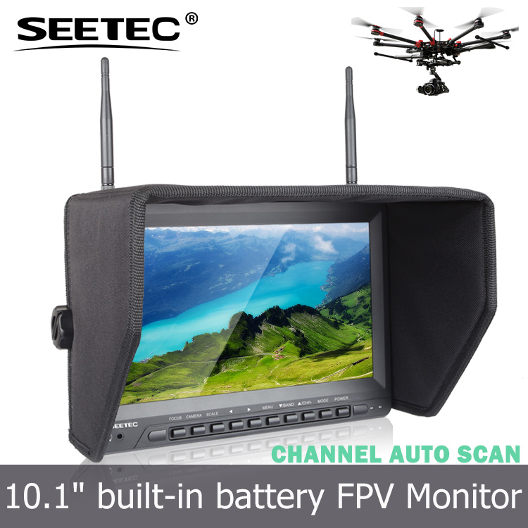 10.1'' dji inspire 2 fpv 5.8g lcd monitor built-in battery dual 32CH diversity receivers shenzhen electronic toys