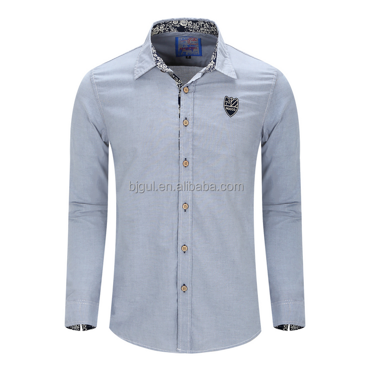 Oxford Man White Outdoor Long Sleeve Shirt