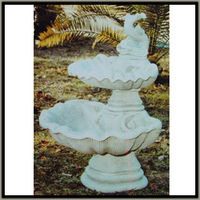 2 tiers fish stone water fountain