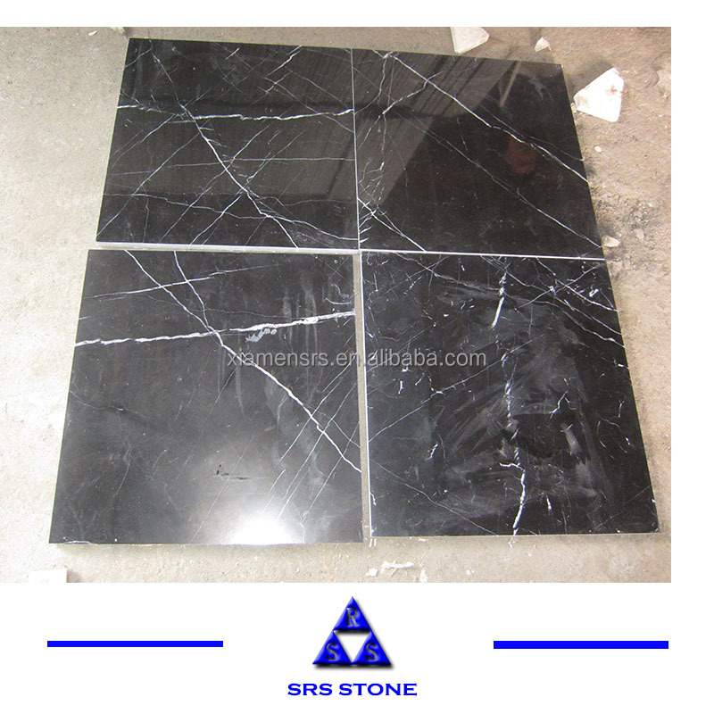 Hot Sale Nero Marquina honed/ polished tiles