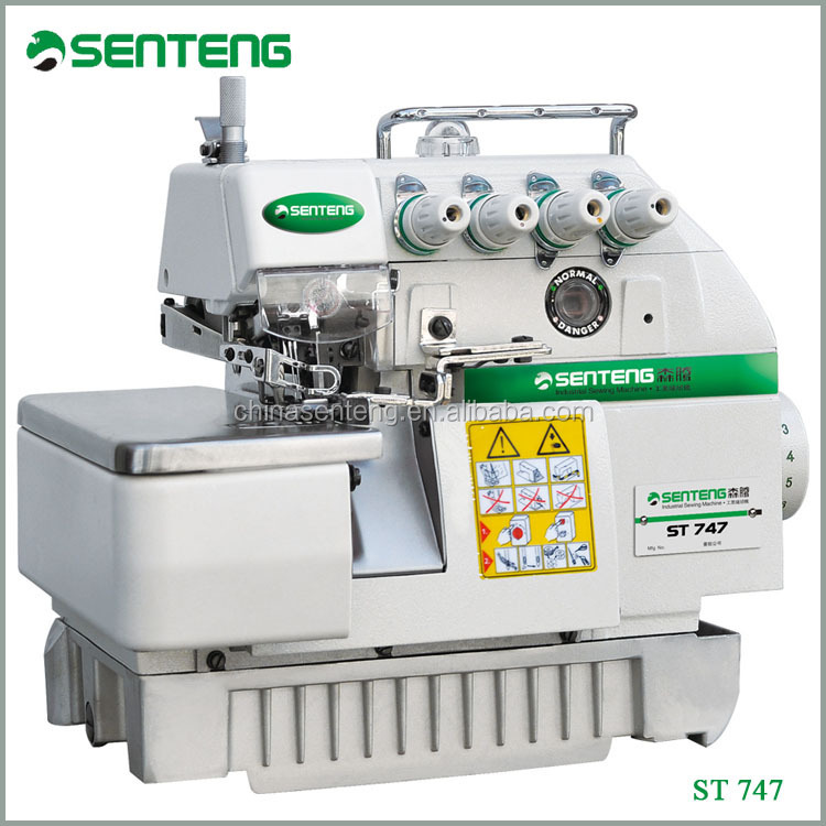 ST 747 overlock industrial sewing machine for garment operate convenient mainly product
