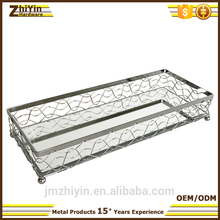 2017 high quality decorative square 3 tier fruit tray Wholesale