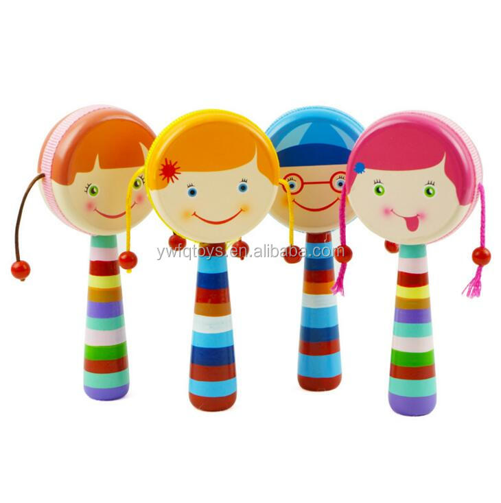 FQ brand Funny drum hand bell musical instrument cartoon baby rattle