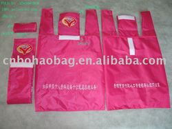 logo print polyester folding bag