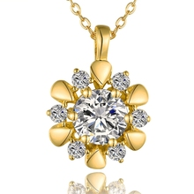 fashion pendant necklace plating 18k gold wedding jewellery women necklace