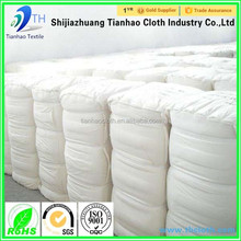 China cvc 60/40 white polyester cotton elastane fabric rolls