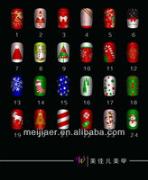 False Fake Artificial nails,christmas nail tips