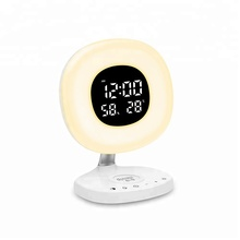 Wireless Charger Wake Up Light Alarm Clock with Touch Sensoe LED light