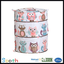 Beauty Owl Design Baby Laundry Basket,Family Kids Hampers