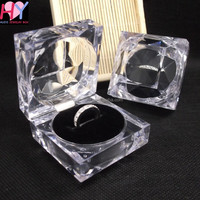 Wholesale fashion crystal glass jewelry box with velvet foam inserts