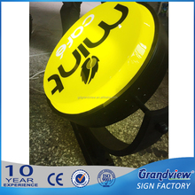 Grandview outdoor display vacuum rotating formed sucking acrylic bubble light box