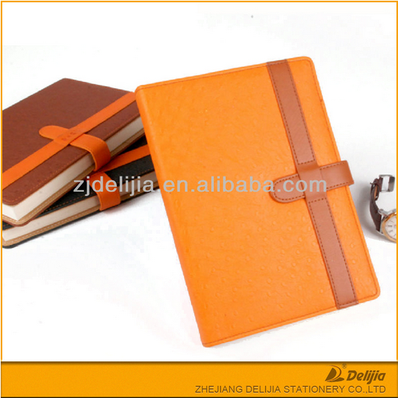 New design high quality cheap custom personalize leather cover A5 size diary journal notebook