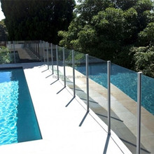 Safety tempered outdoor glass fence