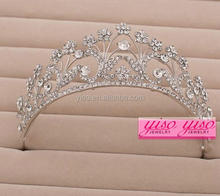 factory direct sale foreign trading crystal charming flower girl tiara