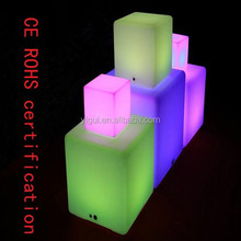 discount 40*40*40CM led cube for sale 16 colour by the remote control led furniture