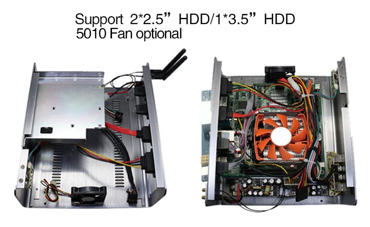 Home theater pc case i7 4790 with H81 chipset support three display port