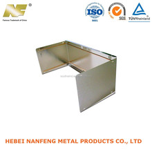 Stamp quality bending parts with sheet metal transformer enclosures