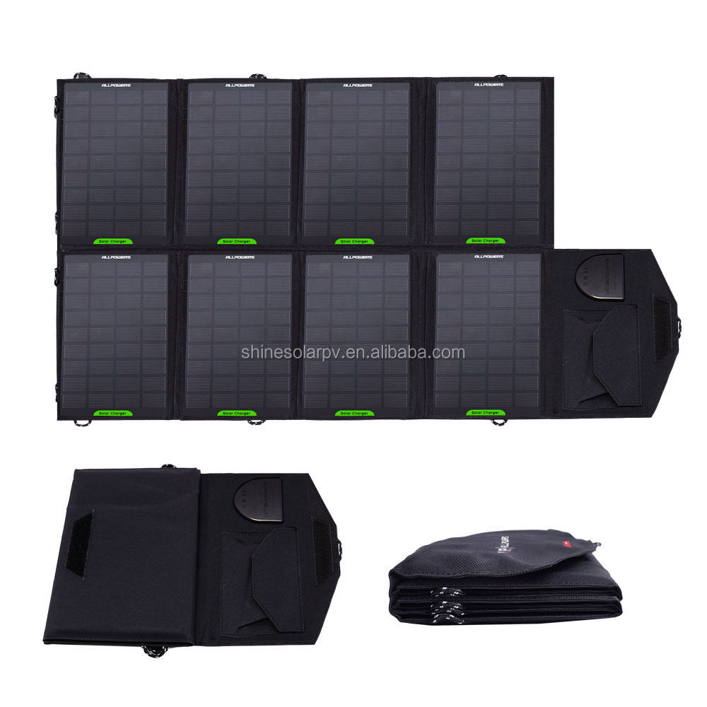 2017 SHINE Hot Sale portable travel smart solar charger waterproof solar panel for mobil phone