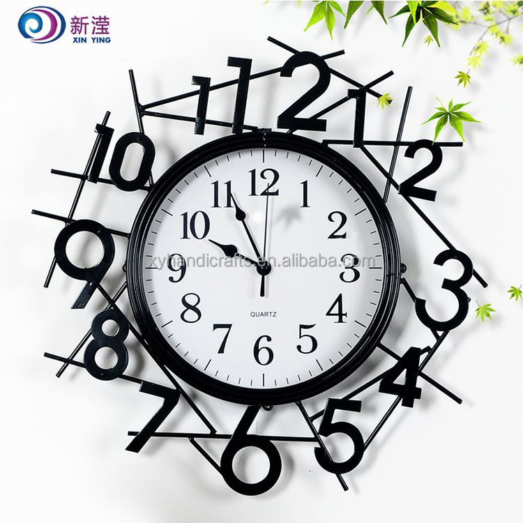 Luxury Modern Rustic Home Decorative Metal Wrought Iron Wall Clock