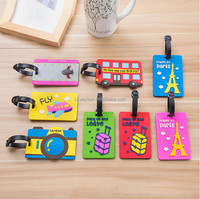 Cute Rubber Luggage Tag ID Identify Label Holder For Suitcase/Handbag/Baggage Recognizable Mixproof Cover Card Easily Travel