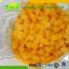 Passed BRC China Frozen Iqf Fruit Yellow Peach Dices