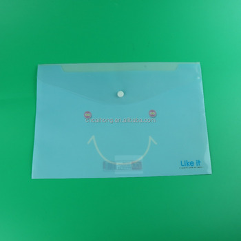 envelope file folder, waterproof document holder, a4 button plastic pp document bag