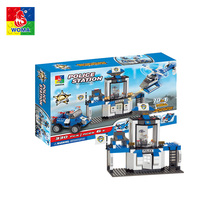 Wholesale education building blocks toys police station brick toys