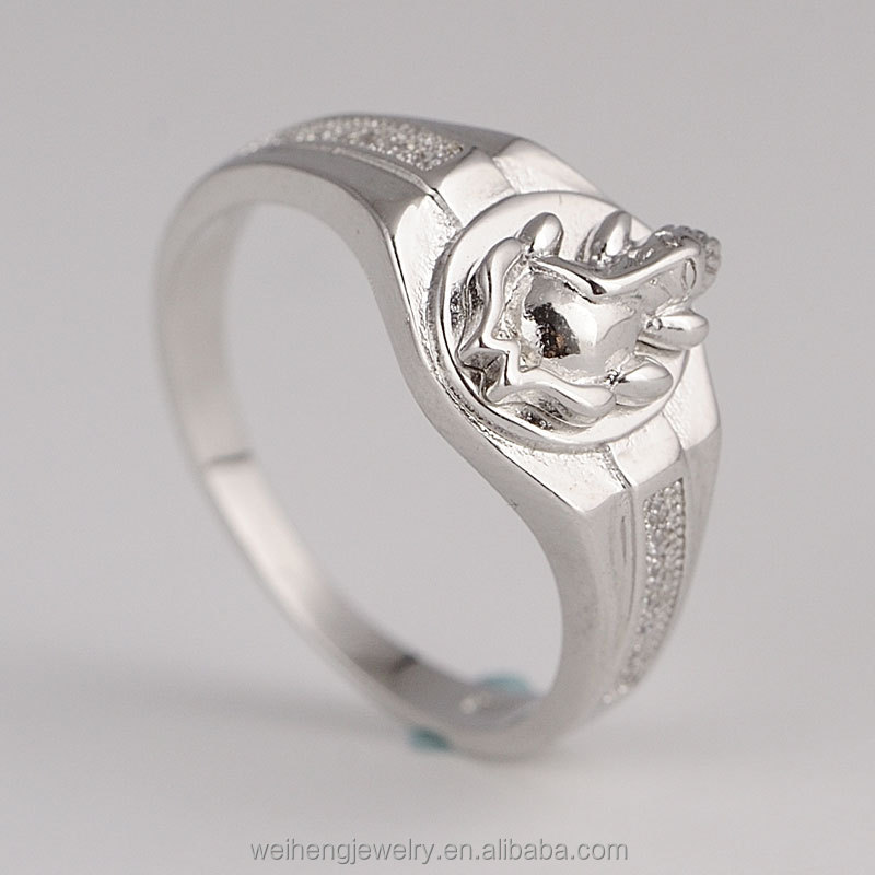 wholesale abibaba jewellery indian Elephant designs 925 sterling silver custom rings for men
