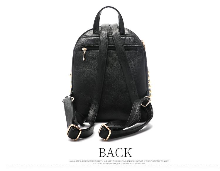 EPASIKA wholesale Black and white Stitching color girl fashion backpack  women designer rivet diamond student school 9ad7e1c050