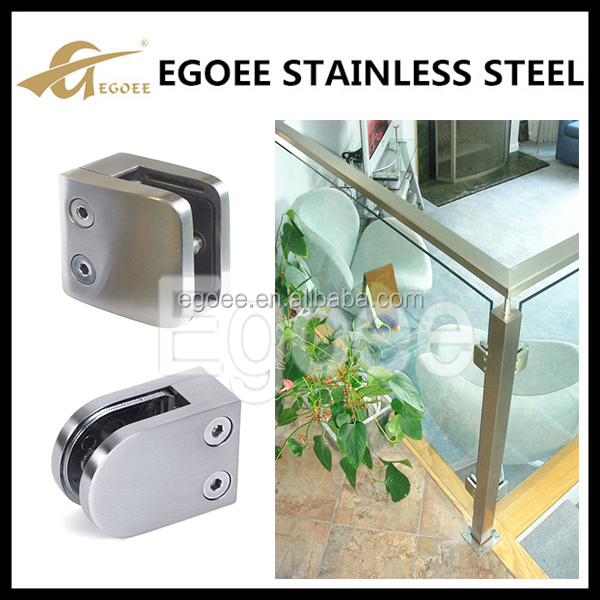 Egoee stainless steel wall mount tempered glass hardware