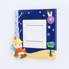 ROOGO 3D Little Boy Switch Stickers Children bedroom Light Cute Prince Wall Stickers Home Decoration Bedroom Parlor Decoration
