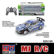 newest item 5 CH 1/18 rc car with music and light
