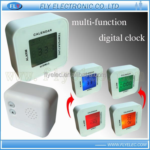 Mult-function LCD alarm Clock /Time/ thermometer/timer /calendar function