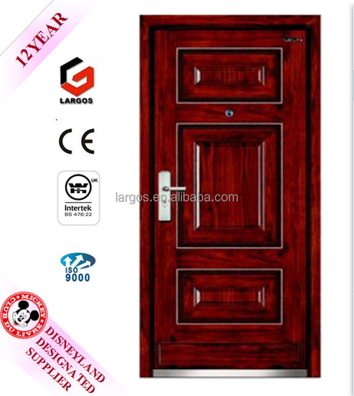 Factory customized fire rated steel door panic push bar