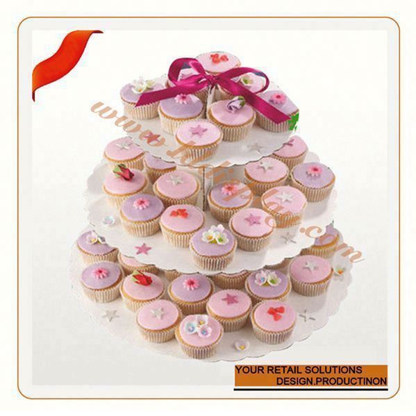 Customized display cupcake rack cake decorating turntable