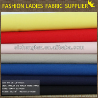 fabrics for shirts and blouses 100% cotton poplin paper touch shirting fabric shirt fabric