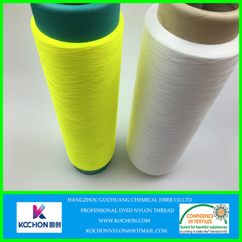 Customized good fastness Stretch Nylon Yarn For Weaving Sewing