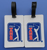 golf competition gifts white pvc bag name tags