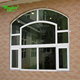 Arch aluminium window with grills
