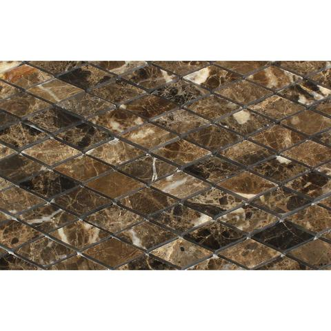 Polished Dark Emperador Rhombus Marble Mosaic Tile For Backsplash